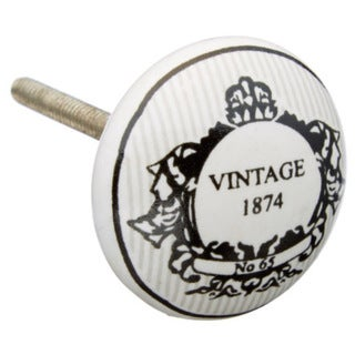 Vintage 1874 Design Ceramic Knob (Pack of 6)