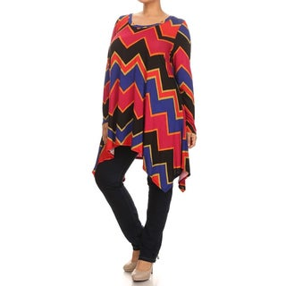 MOA Collection Women's Plus Size Chevron Dress