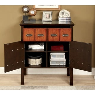 Furniture of America Marcella Transitional Two-Tone 2-drawer Hallway Cabinet