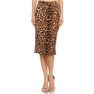 MOA Collection Leopard Print Pencil Skirt