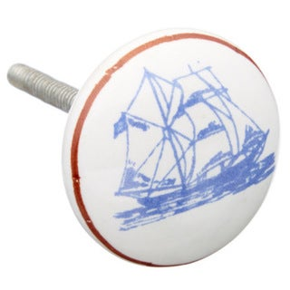 Ship At Sea Ceramic Drawer/ Door/ Cabinet Knobs (Pack of 6)
