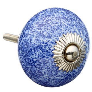 Deep Blue with Speckles Ceramic Drawer/ Door/ Cabinet Knob (Pack of 6)