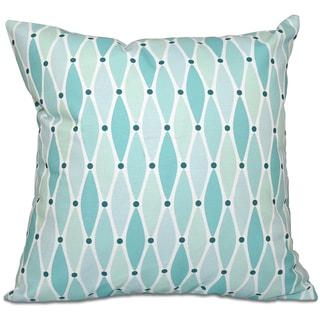 Wavy Geometric Print 16-inch Throw Pillow