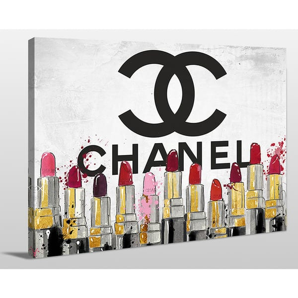 By Jodi Chanel Lipsticks Giclee Print Canvas Wall Art Overstock 11483559