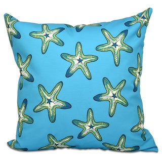 Soft Starfish Geometric Print 16-inch Throw Pillow