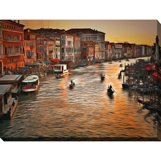 Yuri Malkov 'Venice Sunset' Giclee Print Canvas Wall Art