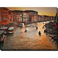 Yuri Malkov 'Venice Sunset' Giclee Print Canvas Wall Art