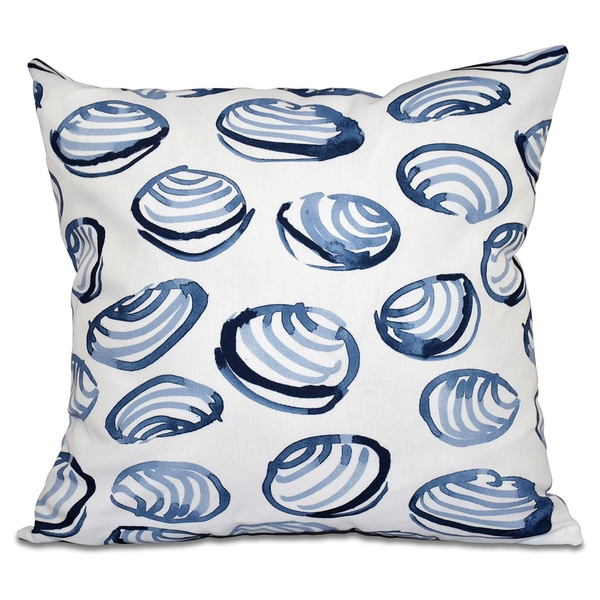 Clams Geometric Print 16-inch Throw Pillow