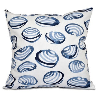 Clams Geometric Print 16-inch Throw Pillow