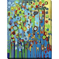 Jennifer Lommers 'Growing In Blue' Giclee Print Canvas Wall Art