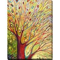 Jennifer Lommers 'Rainbow Tree In Autumn' Giclee Print Canvas Wall Art