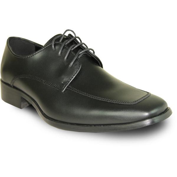 VANGELO Men Dress Shoe TUX-3 Oxford Formal Tuxedo for Prom & Wedding Shoe Black Matte - Wide Width Available