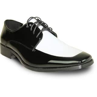 VANGELO Men Dress Shoe TUX-3 Oxford Formal Tuxedo for Prom & Wedding Shoe Black/White Patent Two Tone - Wide Width Available|https://ak1.ostkcdn.com/images/products/11483644/P18437959.jpg?impolicy=medium