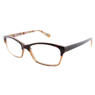 Lafont Opera 530 Havana And Amber Plastic Rectangle 53mm Eyeglasses