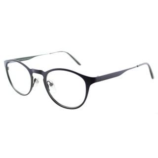 Lafont Resonance 3058 Navy on Green Round Metal 48mm Eyeglasses