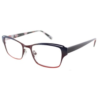 Lafont Parfum 621 Berry Violet Blue Metal Square Cat Eye 51mm Eyeglasses