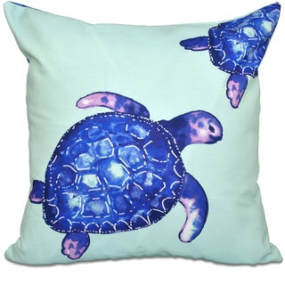 Turtle Tales Animal Print 16-inch Throw Pillow