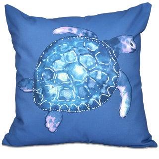 Sea Turtle Animal Print 16-inch Throw Pillow