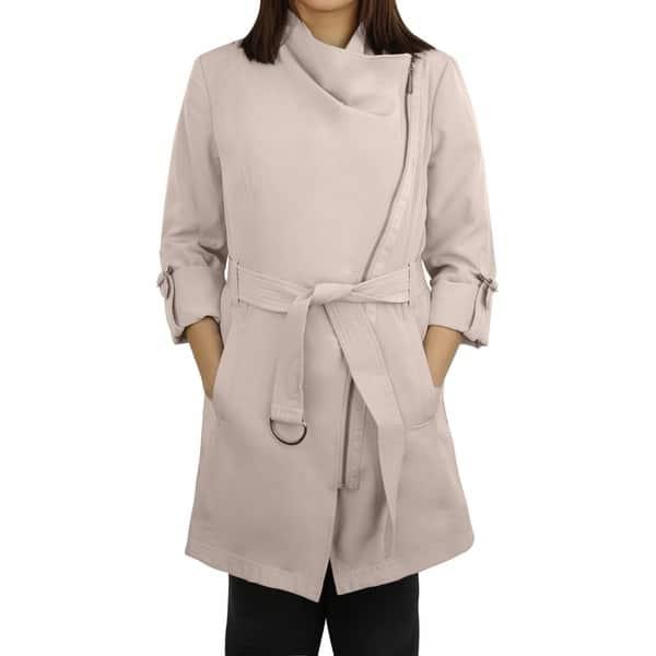 variety styles of 2019 stylish design 60% cheap Michael MIchael Kors Sand Asymmetrical Zip Trench Coat