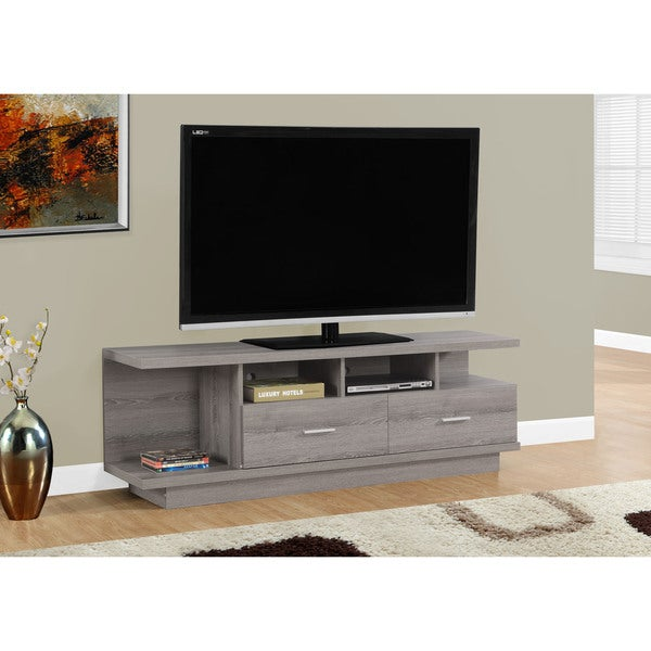 Shop Dark Taupe 60 Inch Tv Stand Free Shipping Today Overstock