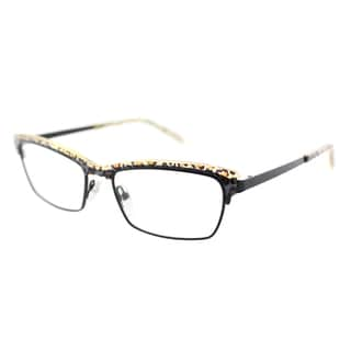 Lafont Pulsion 380 Leopard And Black Metal Brow Line 53mm Eyeglasses
