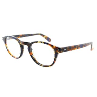 Lafont Recamier 3048 Violet Havana Round Plastic Eyeglasses