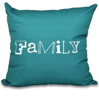 Family Word Print 16-inch Throw Pillow