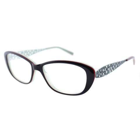 Lafont Ruban 3043 Navy And Moss Small Cat Eye 53mm Eyeglasses