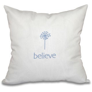 Make a Wish Word Print 16-inch Throw Pillow