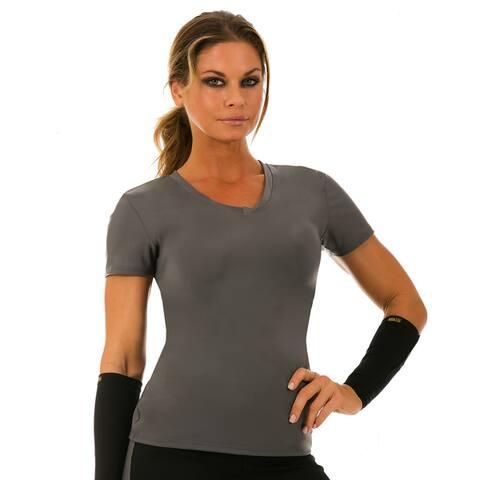 Instantfigure Women's Compression Long Sleeve V-neck Top