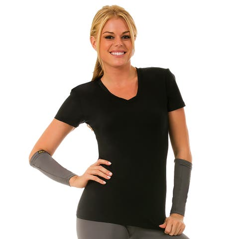 Instantfigure Women's Compression Long Sleeve V-neck Top