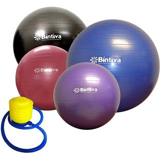 Bintiva Anti-burst Fitness Exercise Stability Yoga Ball (More options available)
