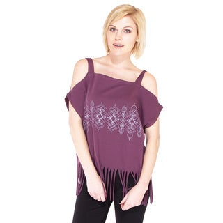 Handmade Free-spirit Fringe Open-shoulder Top (Nepal)