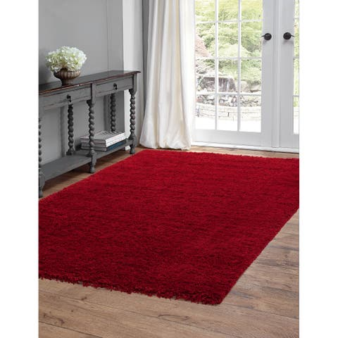 """Willow Red Olefin Area Rug by Greyson Living - 7'9"""" x 10'6"""""""