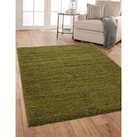 Willow Green Olefin Area Rug by Greyson Living (5'3 x 7'6) - 5'3 x 7'6