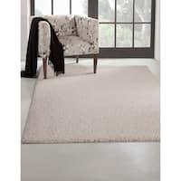 """Willow White Olefin Area Rug by Greyson Living - 5'3"""" x 7'9"""""""