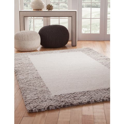 """Linden Ivory/ Brown Olefin Area Rug by Greyson Living (5'3 x 7'6) - 5'3"""" x 7'9"""""""