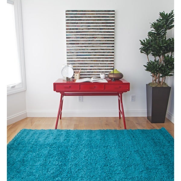 """Willow Teal Olefin Area Rug by Greyson Living - 5'3"""" x 7'9"""""""