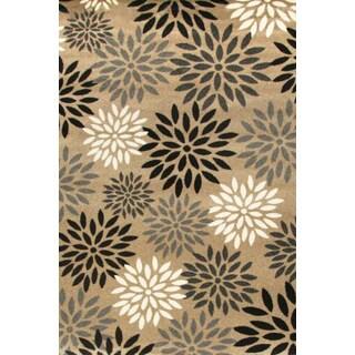 Greyson Living Radiance Tan/ Black/ Ivory Olefin Area Rug (7'9 x 10'6)