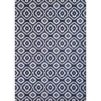 Greyson Living Owen Navy/ White Viscose Area Rug (7'10 x 11'2) - 7'9 x 10'8