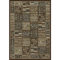 "Greyson Living Raiden Chocolate/ Ivory/ Grey Viscose Area Rug - 7'10"" x 11'2"""
