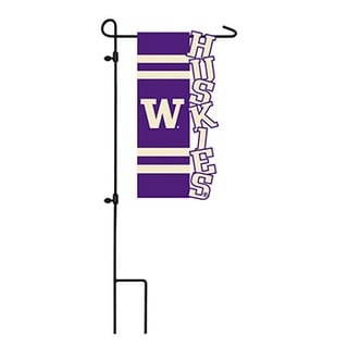 University of Washington Applique Sculpted Garden Flag