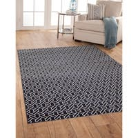 "Greyson Living Links Navy/ White Viscose Area Rug - 7'10"" x 11'2"""