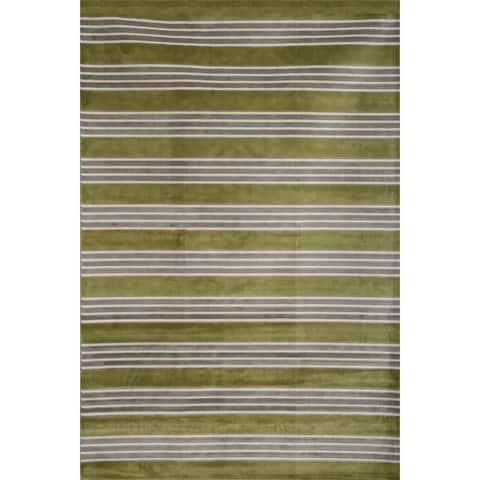 """Greyson Living Spencer Green/ Light Blue/ Ivory Viscose Area Rug - 7'10"""" x 11'2"""""""