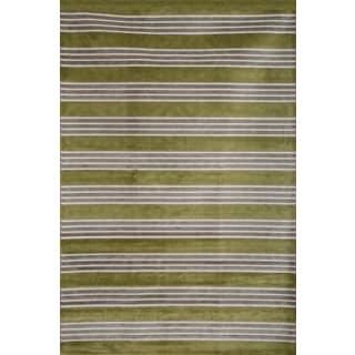 Greyson Living Spencer Green/ Light Blue/ Ivory Viscose Area Rug (7'10 x 11'2)