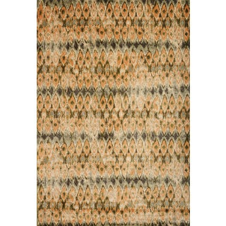 Greyson Living Myra Tangerine/ Green/ Light Blue Viscose Area Rug (7'10 x 11'2)