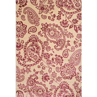 Greyson Living Paisley Ivory/ Raspberry Viscose Area Rug (7'10 x 11'2)