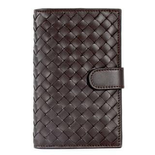 Bottega Veneta Brown Leather Woven Bifold Wallet