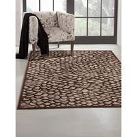 "Greyson Living Flagstone Chocolate/ Grey Viscose Area Rug - 7'10"" x 11'2"""