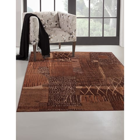 """Greyson Living Mohave Rust/ Brown/ Golds Viscose Area Rug - 7'10"""" x 11'2"""""""